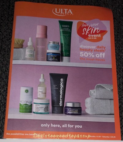 Ulta Love Your Skin Event 2020 Winter/January