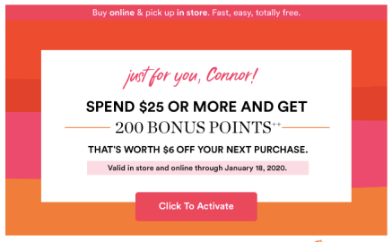 Ulta Bonus Points 2020