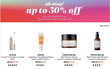 Sephora Snap Sale 2020 April 2nd