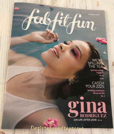 FabFitFun Spring 2020 Subscription Box Magazine