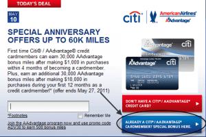 1,000 American Bonus Miles For Citi Aadvantage Credit Card