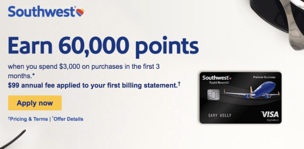 Southwest credit card rewards howtoviews southwest airlines rapid reward southwest business credit card increased to 60 000 point offer colourmoves