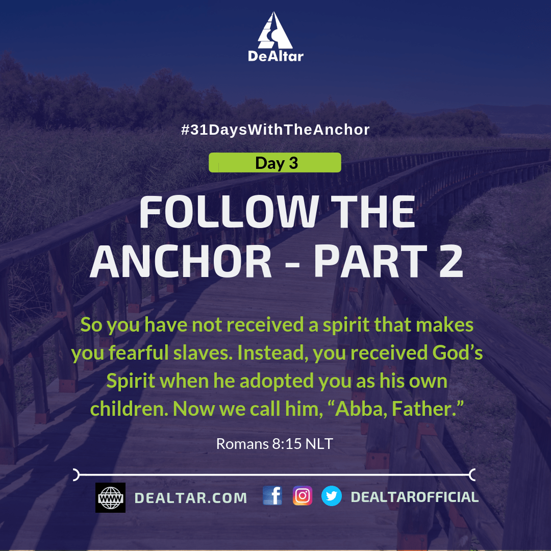 #31DaysWithTheAnchor - Day 3
