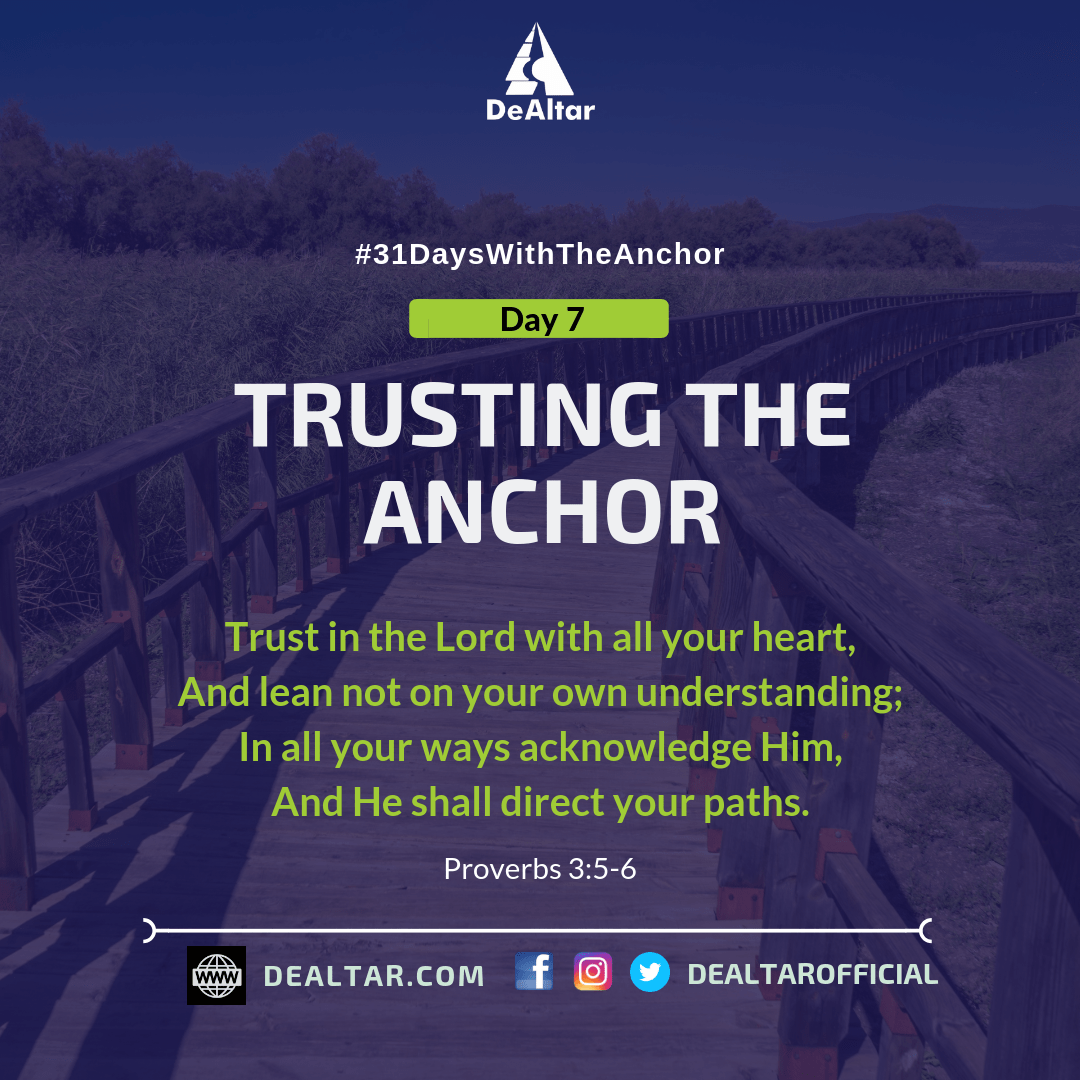 #31DaysWithTheAnchor - Day 7