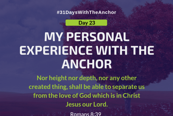 31 Days With The Anchor