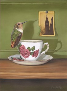 Scintillant Hummingbird/English Tea Cup