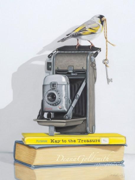 """Key to the Treasure""Original framed to 16x20"" $1,200"