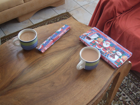 Christmas Morning (last cups of English tea).