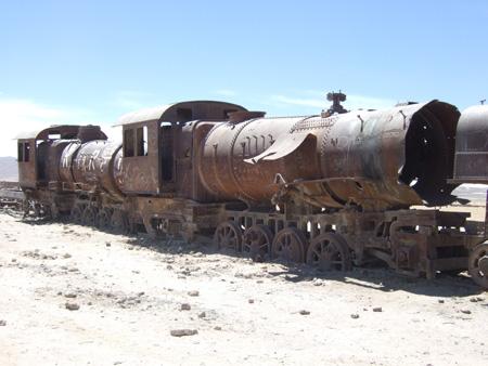 Train Cementry outside Uyuni