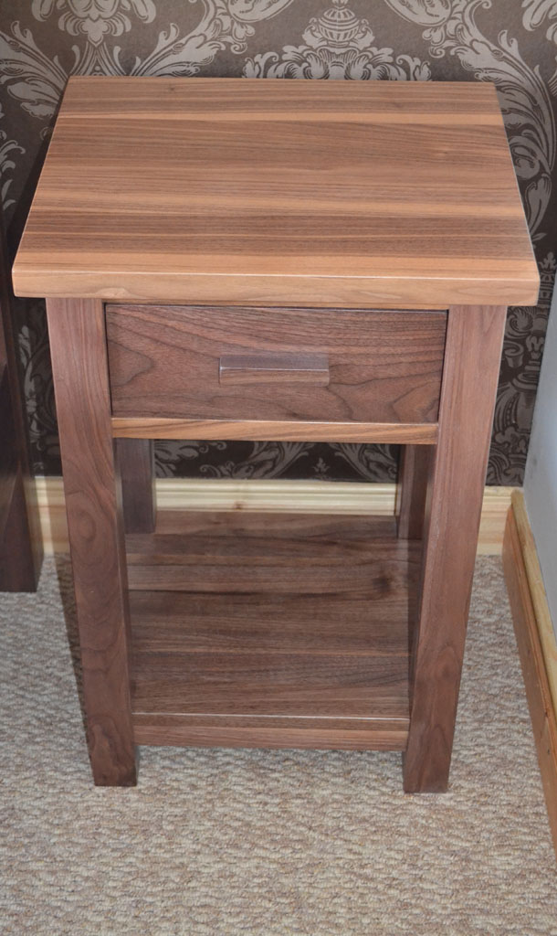 Deanery Solid Walnut Bedstand Deanery Furniture