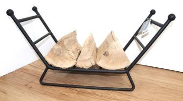Dean-Forge-Low-Log-holder-Store-in-matt-black W:69cm x H: 34.5cm