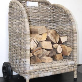 Log basket carrier H86cm x W30 x D50cm