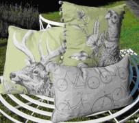 Autumn colours cushions at Dean Forge Buckfastleigh