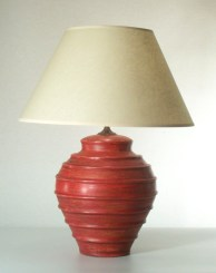 Beehive Red Table Lamp with shade