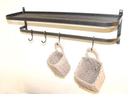 Wall-art-kitchen-hanging-shelf-iron-dean-forge