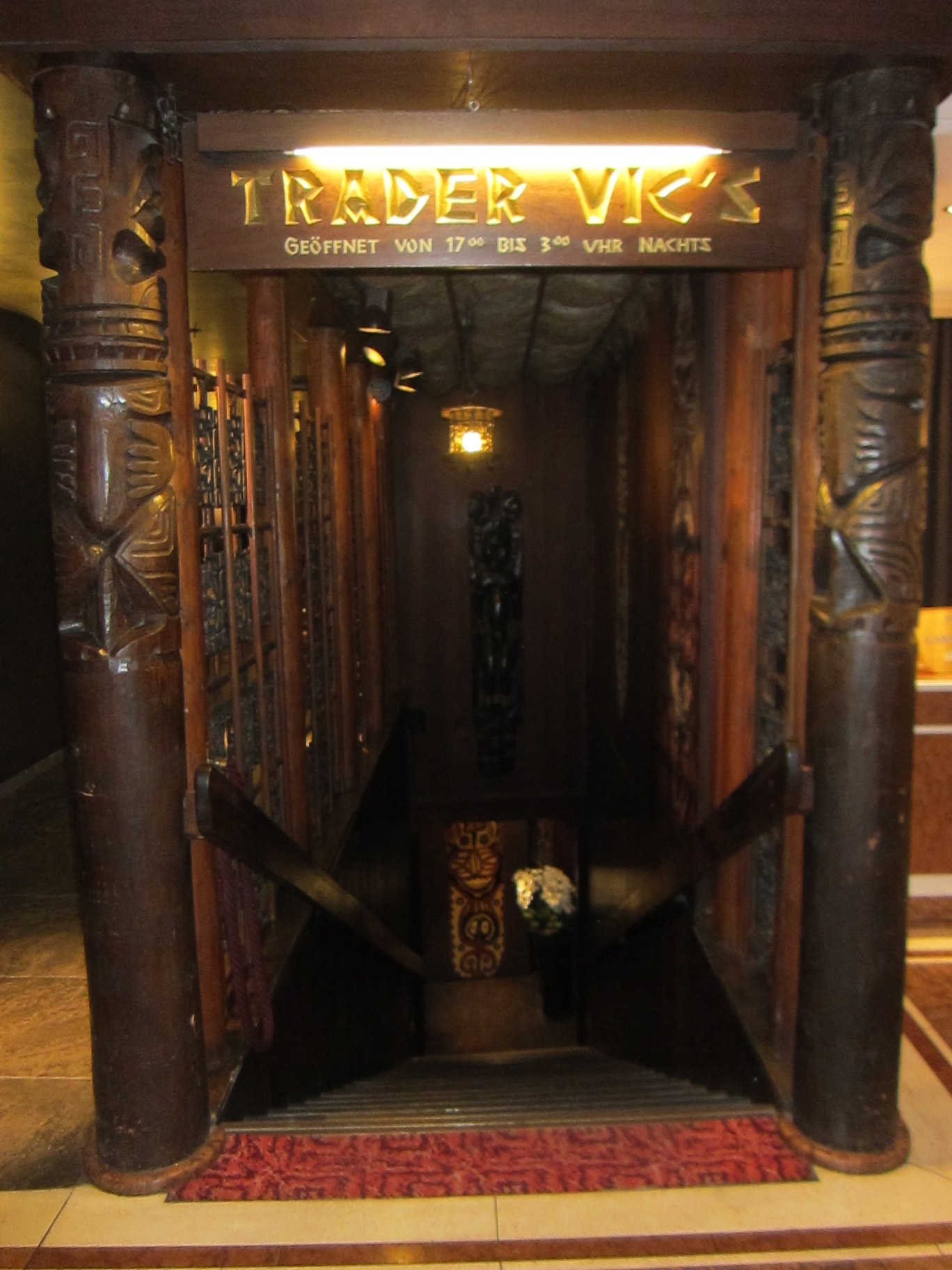 6339 old york road - Trader Vic S Is A Subterranean Space In The Swanky Historic Hotel Bayerischer Hof Originally Opened In 1841 I Was Excited To See Their Hours Carved In