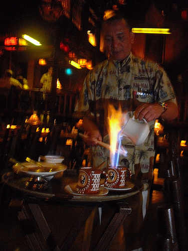 flaming coffee grogs