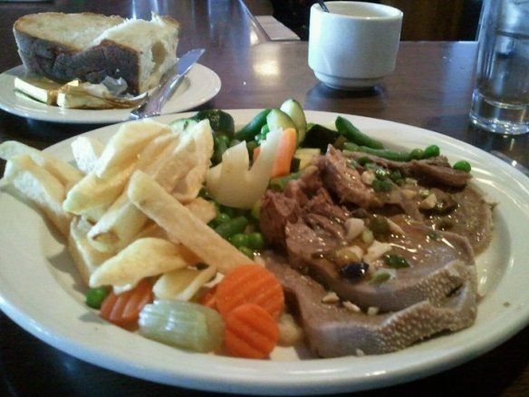 Beef tongue Wednesday lunch special. Photo by The Jab.
