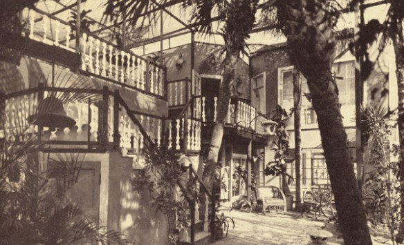 Postcard photo of Chalet Suzanne from between 1931 and 1940, when it was mailed - image by State Archives of Florida, Florida Memory, http://floridamemory.com/items/show/259144