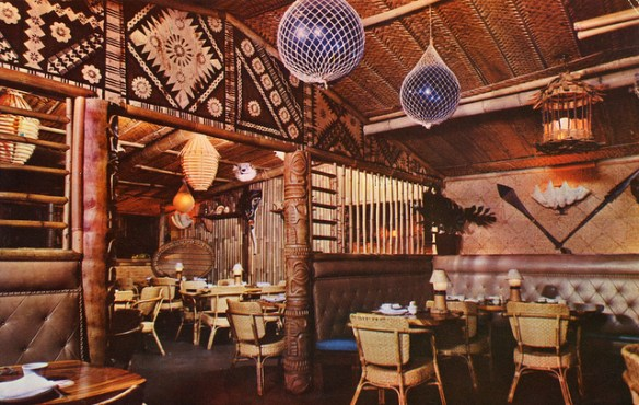 Tiki Room, Trader Vic's, San Francisco - postcard via SwellMap on Flickr