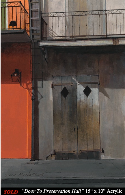 "Door to Preservation Hall 15"" x 10"" Acrylic"