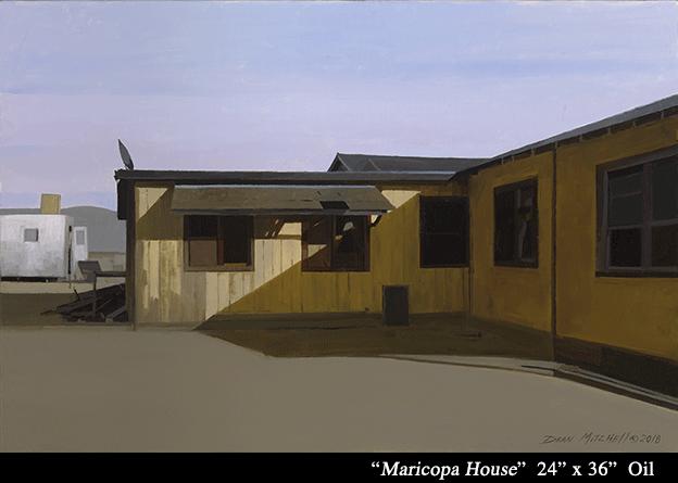 """Maricopa House  Oil 24"""" x 36"""""""