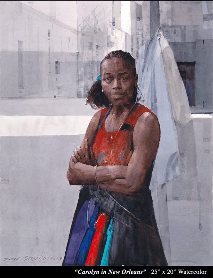 "Carolyn in New Orleans 25"" x 20"" Watercolor"