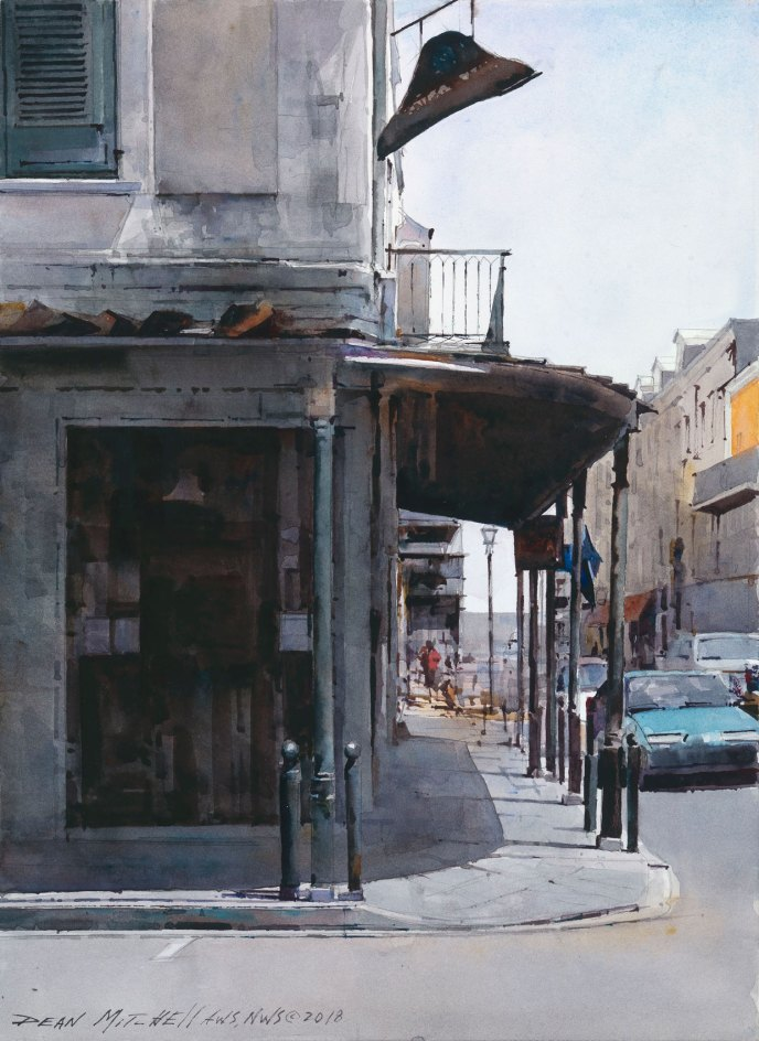 """Napoleon House""  15"" x 11""  Watercolor"
