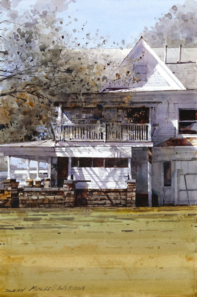 """""""Osage House""""  15"""" x 10""""   Watercolor"""