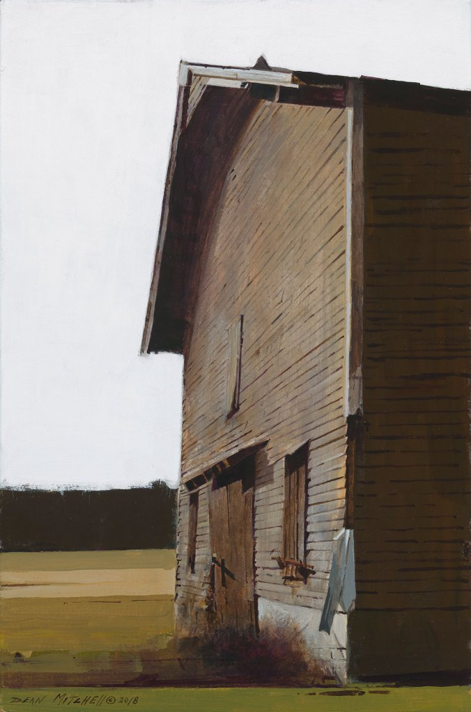 "Quincy Tobacco Barn 15"" x 10"" acrylic"