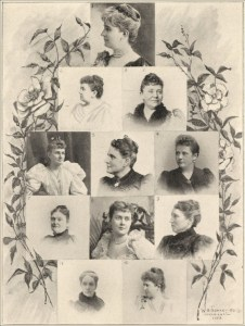 The officers of the Board of Lady Managers of the 1893 Chicago World's Fair. Credit: The Field Museum Library via Wikicommons