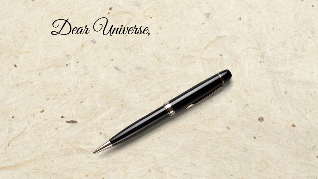 Dear Universe letter