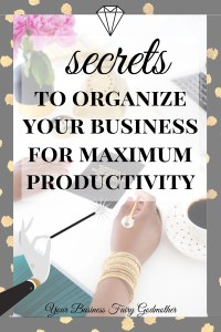 organize your business for maximum productivity