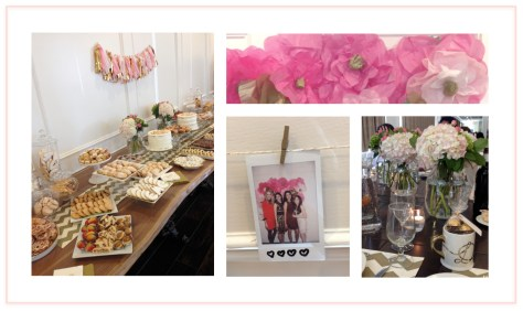 The perfect Pinterest bridal shower with a plethora of homemade goodies, a pink paper flower wall, fluffy hydrangeas, and a polaroid station.