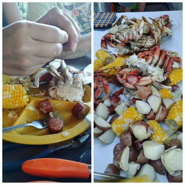 Crab boil on the back patio with some of my very favorite people.