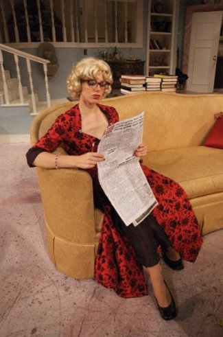 Billie Dawn in Born Yesterday @ Florida Rep; photo by Chip Hoffman