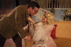 Billie Dawn in Born Yesterday @ Florida Rep; photo by Chip Hoffman; With Brendan Powers