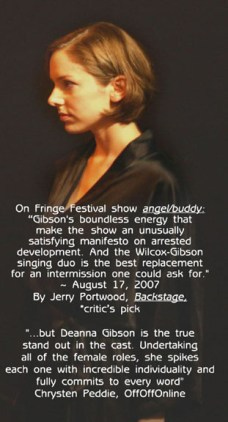 as Gina in angel/buddy at the Gene Frankel Theatre, NYC Fringe Festival