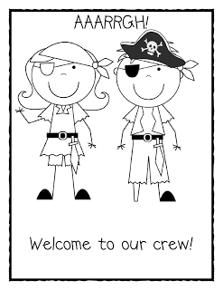 The First Week of School Part One..... Pirate sheet added