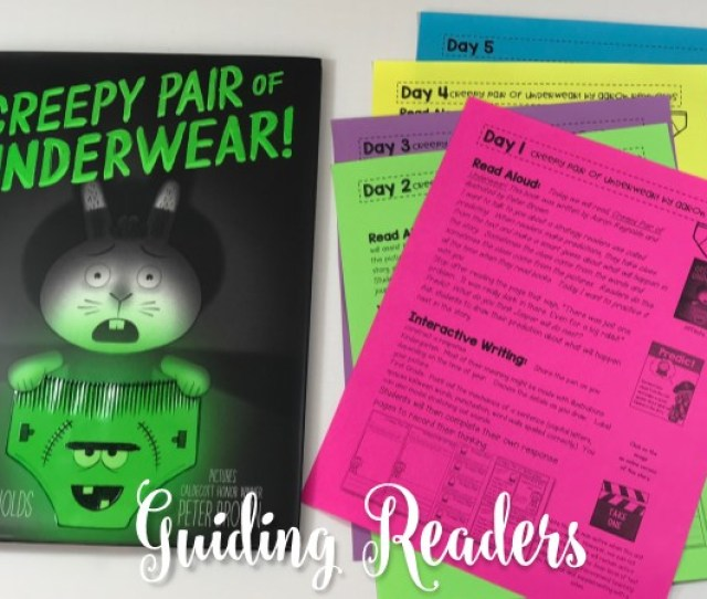 Creepy Underwear Lesson Plans For The Book By Aaron Reynolds Includes Reading Activities Anchor Charts