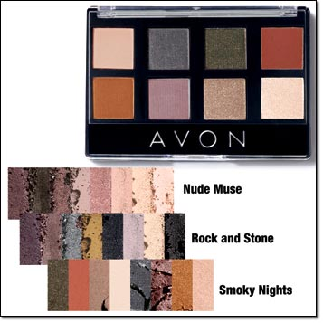 Avon True Color 8-in-1 Eyeshadow Palette Shades