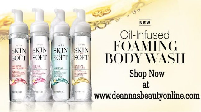 Skin So Soft Oil Infused Foaming Body Washes