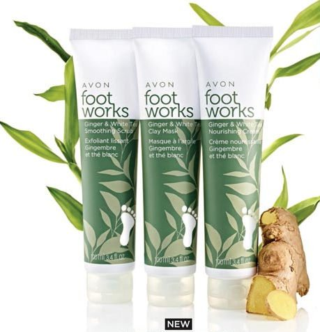 Avon Foot Works Ginger and White Tea Collection