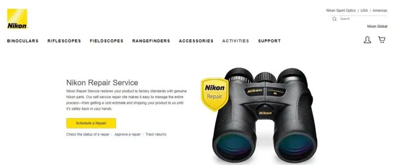 Nikon Binocular Maintenance Service