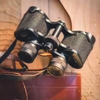 old pair of binocular repair