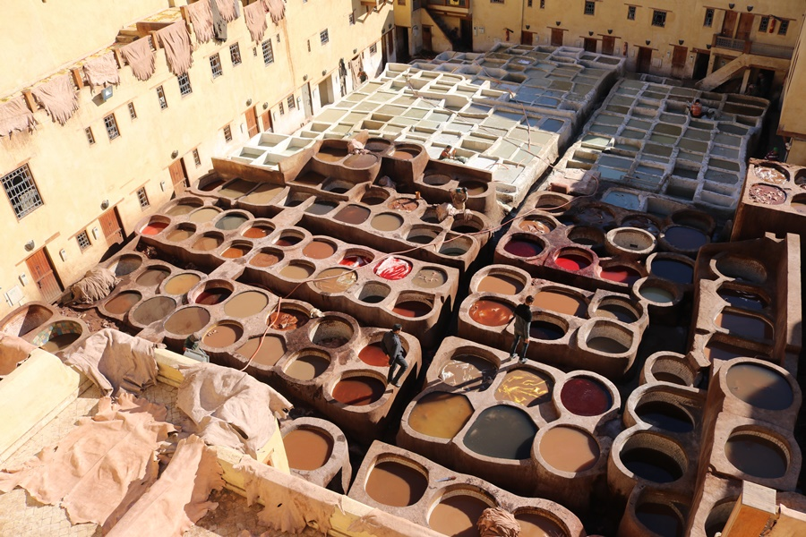 Snapshots of Morocco – The Ancient Chouwara Tannery of Fes
