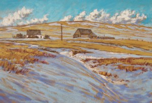 Ranchville Homestead, pastel by D.T. Reeves