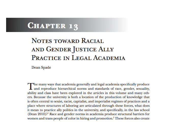 Notes Toward Racial And Gender Justice Ally Practice In