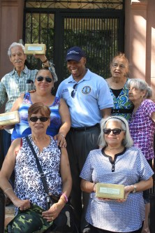 Borough President Adams with cornerstone neighbors