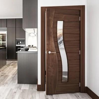 Oak Walnut And White Primed Interior Doors Deanta